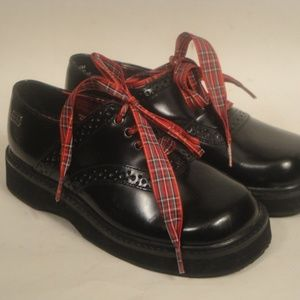 Tommy Hilfiger Black Leather Boys Shoes 10.5